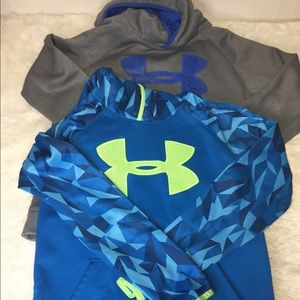 Under Armour Two Hoodies Cold Youth Large.